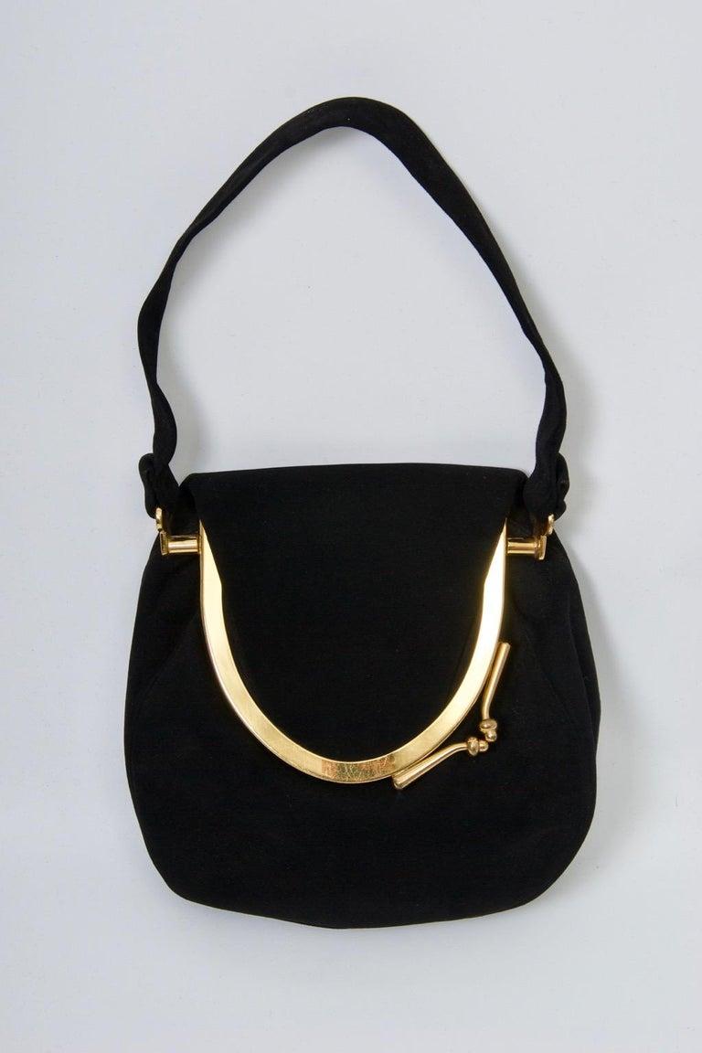 Coblentz Black Suede Bag, c.1960 For Sale 6