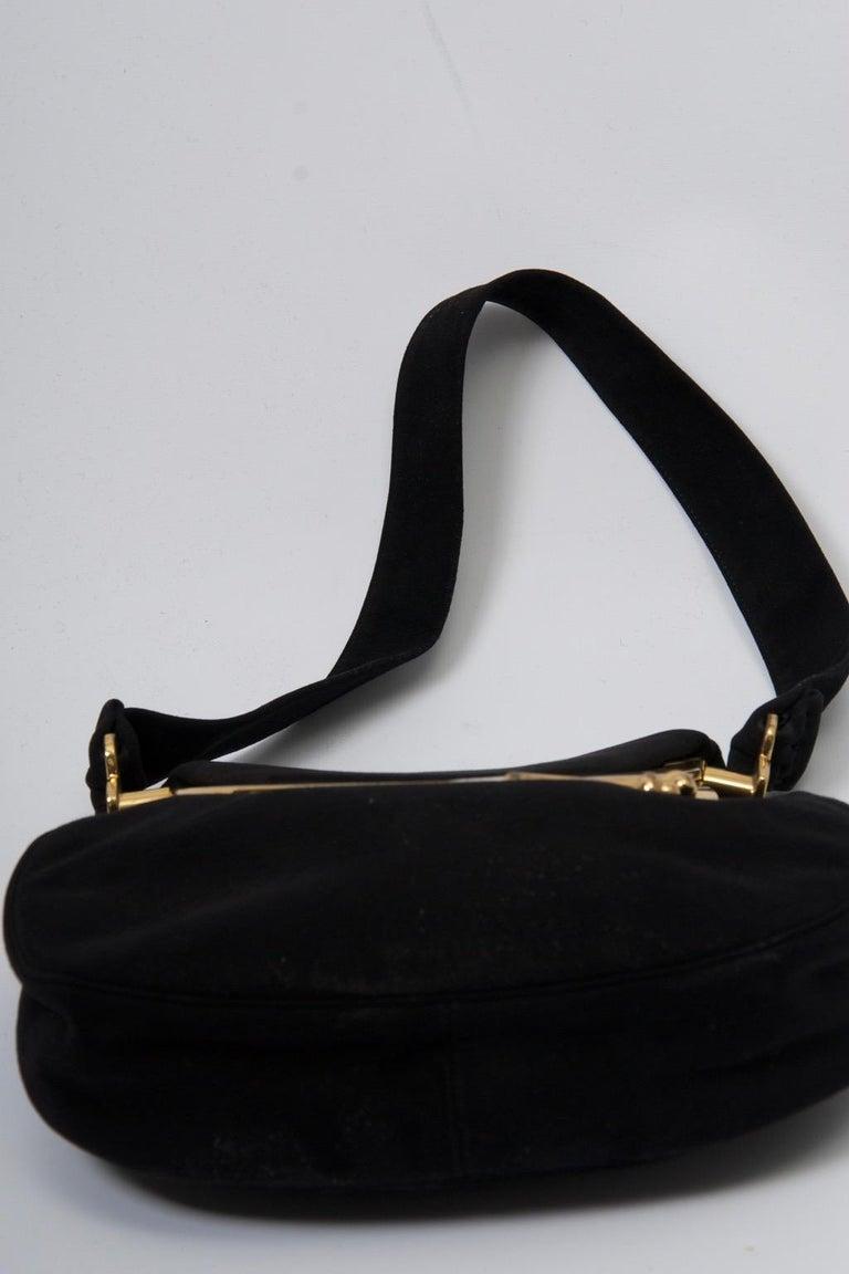 Women's Coblentz Black Suede Bag, c.1960 For Sale