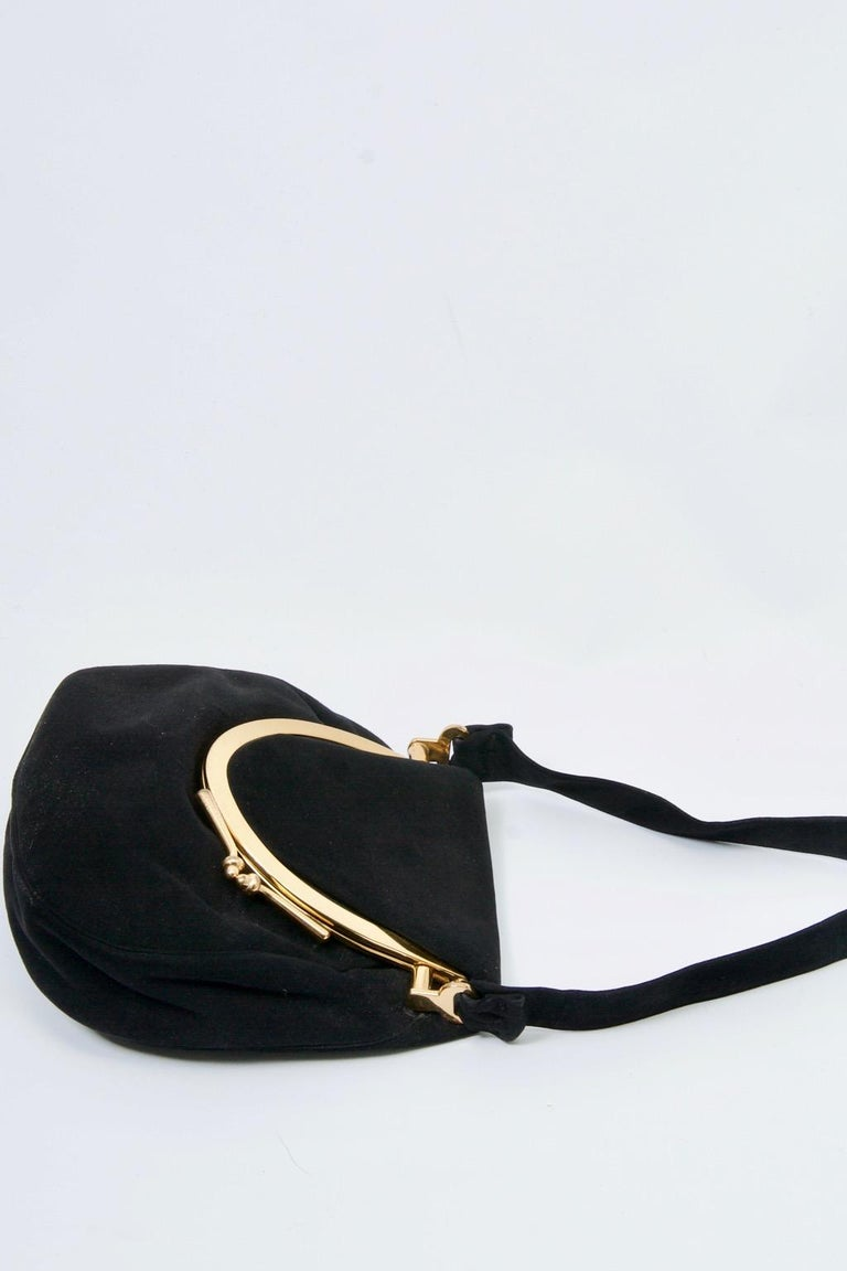 Coblentz Black Suede Bag, c.1960 For Sale 1