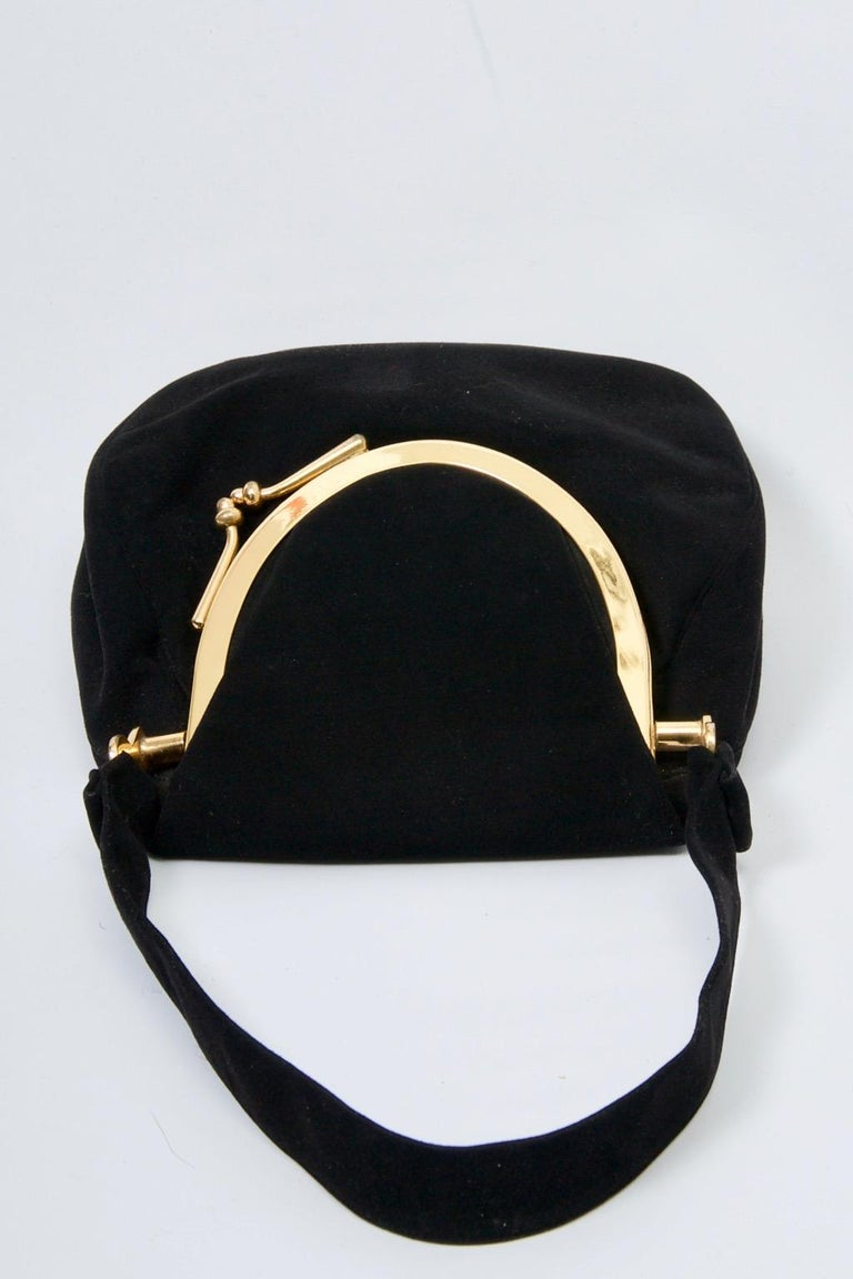 Coblentz Black Suede Bag, c.1960 For Sale 2