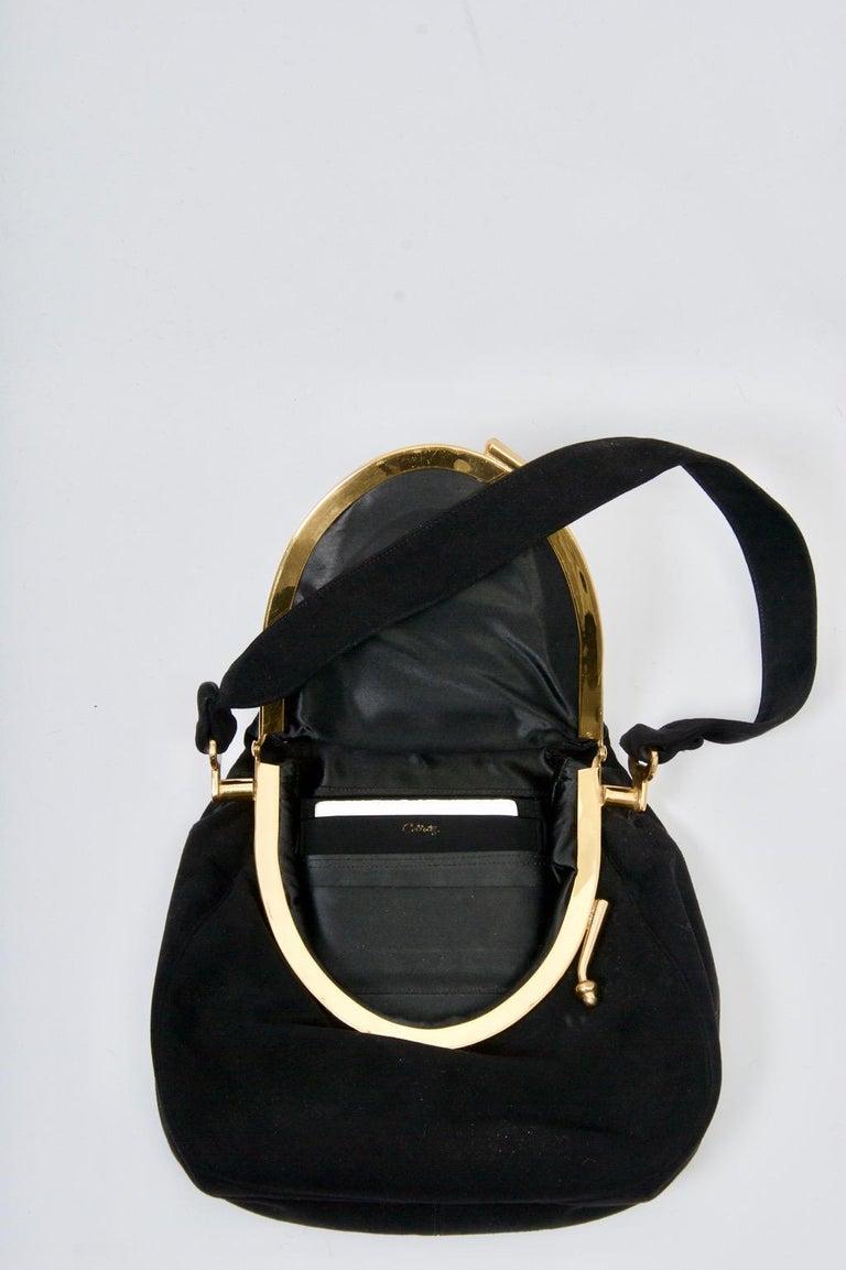 Coblentz Black Suede Bag, c.1960 For Sale 3