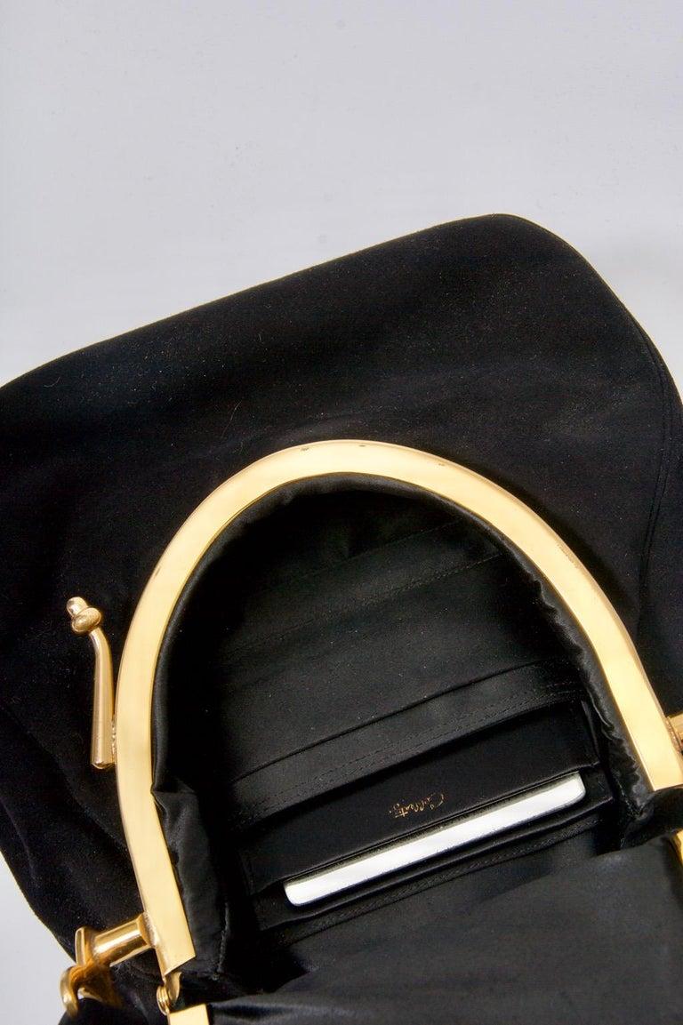 Coblentz Black Suede Bag, c.1960 For Sale 4
