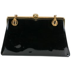 Coblentz Patent Clutch with Glass Orb Charms