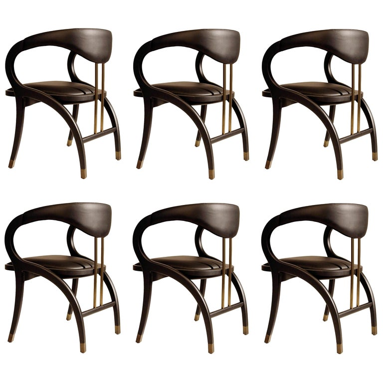 Cobra Dining Chair, Set of 6 For Sale