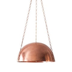 Cobre Collection, Campana, Hammered Copper Pendant Light, Size A
