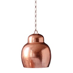 Cobre Collection, Pendant Light in Hammered Copper, Small, Gordita