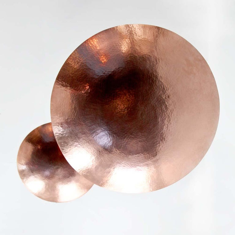 Cobre Collection, Pendant Light in Hammered Copper,  Olla, Size B 4