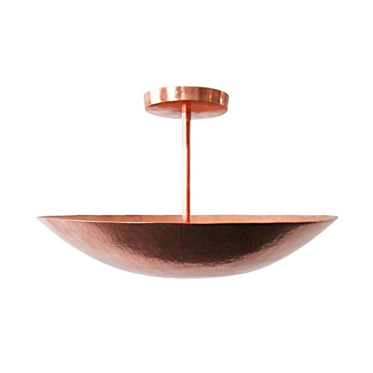 Cobre Collection, Pendant Light in Hammered Copper,  Olla, Size B 1