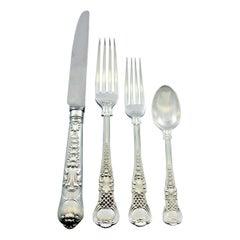 Coburg CJ Vander English Sterling Silver Flatware Set 8 Service Dinner 32 pcs