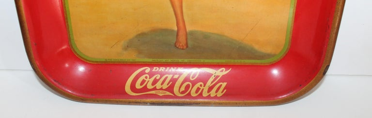 Machine-Made Coca Cola Coin Tray For Sale
