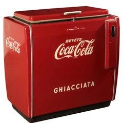 Coca Cola Fridge, Metallic Enamelled, USA, 1960s