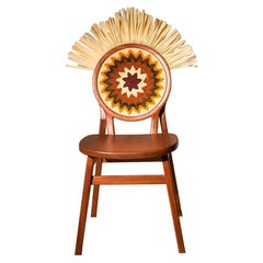 Cocar Chair in Wood, Brazilian Design