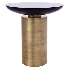 Cockatoo Table with Amethyst Resin Top and Brass Base by Powell & Bonnell