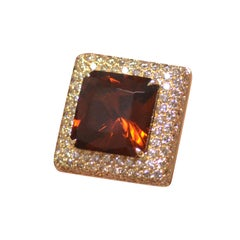 Cocktail Ring Margherita Burgener Gold Diamond Brown Diamond Citrine Quartz