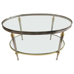 Cocktail Table in Steel and Brass by Trouvailles