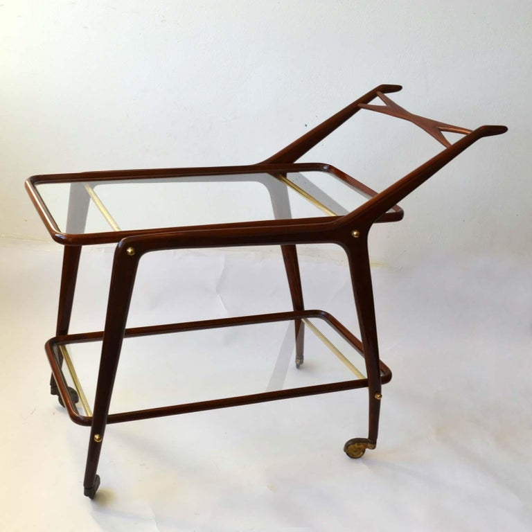 Mid-Century Modern Cocktail Trolley by Cesare Lacca, Cassina, Italy, 1950's For Sale