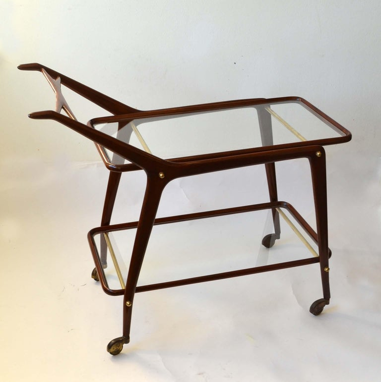 Italian Cocktail Trolley by Cesare Lacca, Cassina, Italy, 1950's For Sale