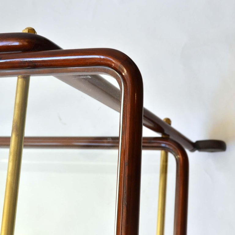 Mid-20th Century Cocktail Trolley by Cesare Lacca, Cassina, Italy, 1950's For Sale