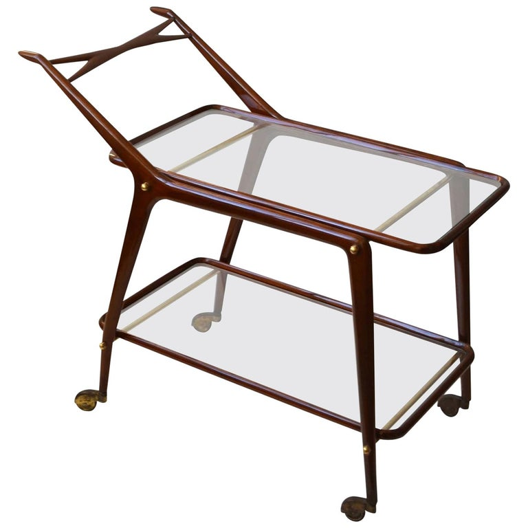 Cocktail Trolley by Cesare Lacca, Cassina, Italy, 1950's For Sale