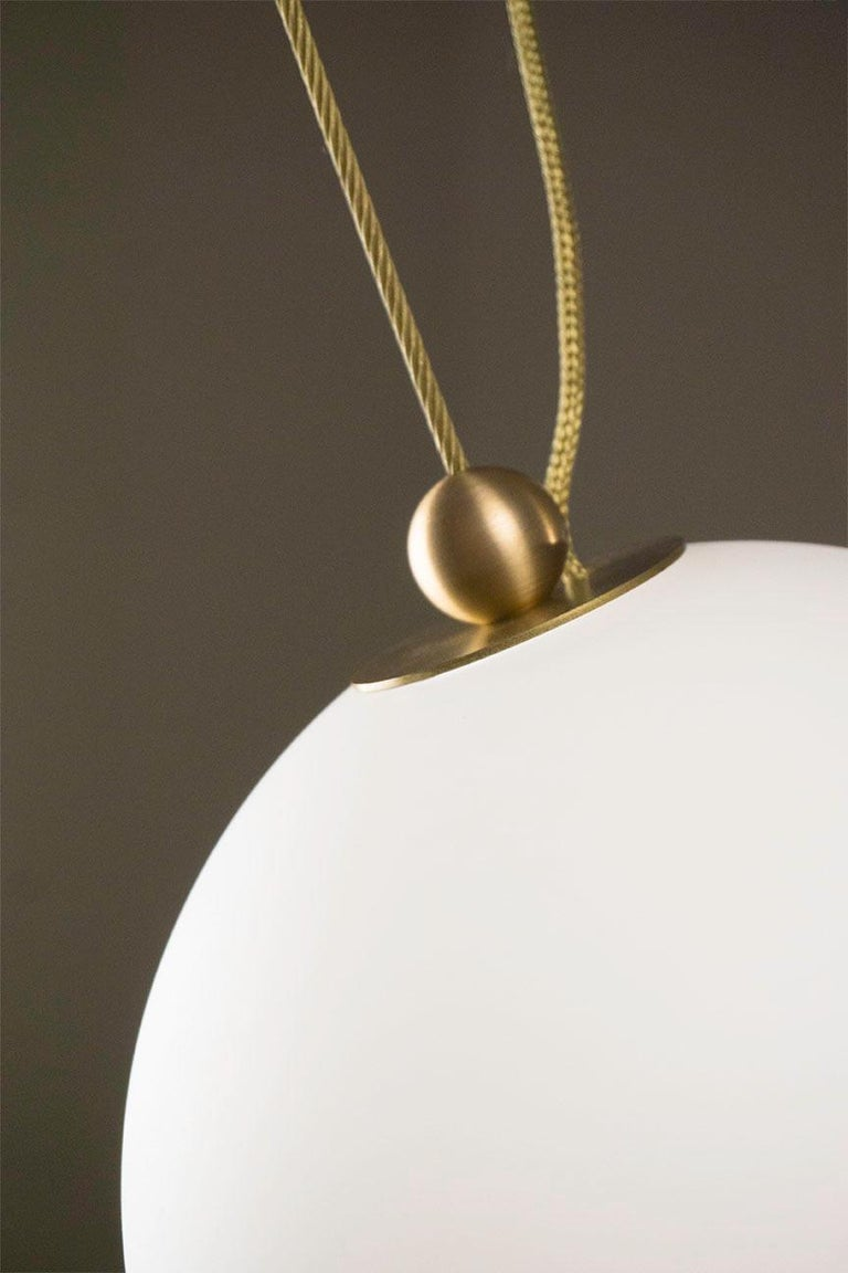 Plated Coco Chandelier, Configuration 02 in Aged Brass by Larose Guyon For Sale