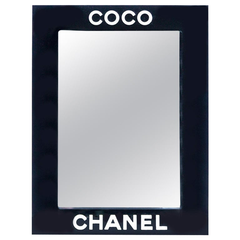 Coco Chanel Acrylic Wall Mirror For Sale