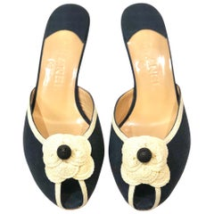 Coco Chanel Camellia Low Heels Sandals