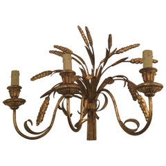 "Coco Chanel ""Fasce Di Grano"" N 4 Sconces Golden Natural Iron"