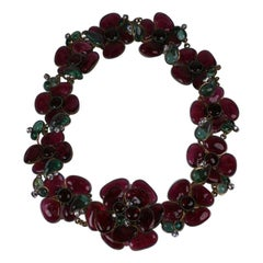 CoCo Chanel Glass Enamel Flower Belt
