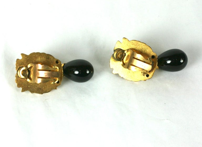 Coco Chanel Lion Head Earrings For Sale 1