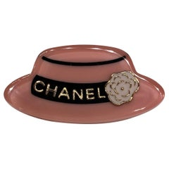 Coco Chanel Lucite Hat Brooch, Spring Collection 2018
