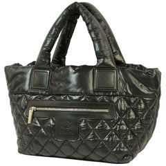 coco Cocoon  totePM  Womens  tote bag A48610  black x silver hardware Leather