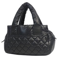 coco Cocoon  Womens  Boston bag  black x silver hardware Leather