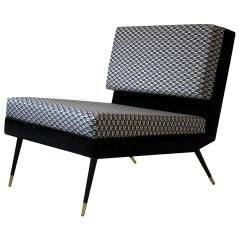 Cocò, Geometric-Shaped Armchair with Vintage Look, Silver
