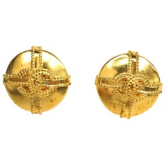 coco mark  circle  wrapping pattern GP  Womens  earrings  gold