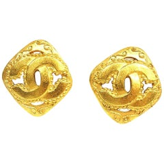 coco mark  rhombus GP  Womens  earrings  gold
