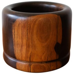 Cocobolo Vessel by Mexican Modernist Don Shoemaker, 1970s