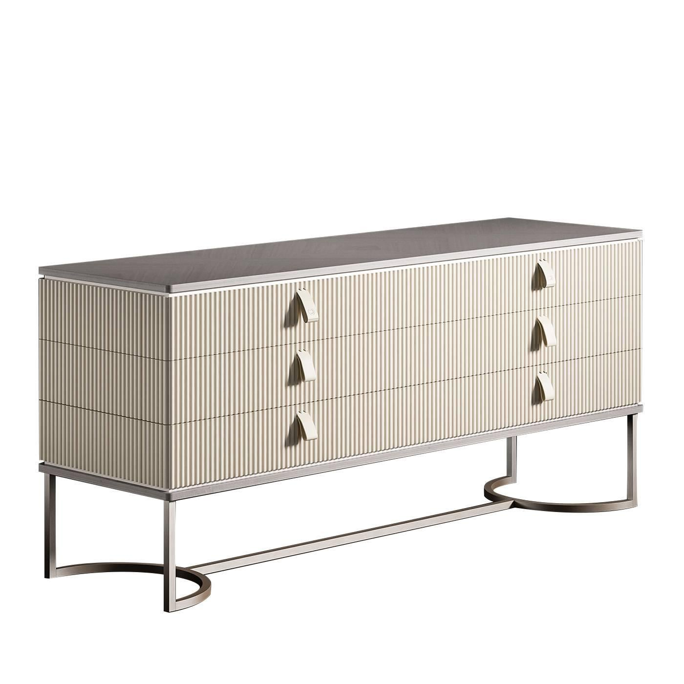 Cocoon Dresser with Metal Base