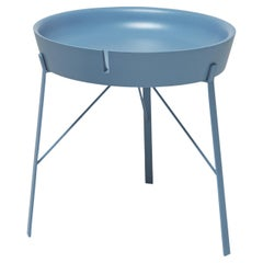 Cocoon Round Light-Blue Coffee Table by Angeletti Ruzza