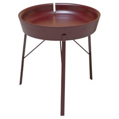 Cocoon Round Purple Red Coffee Table by Angeletti Ruzza