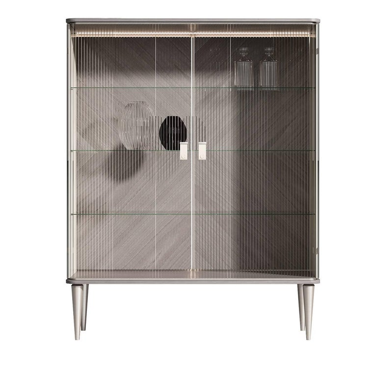 Cocoon Tall Glass Cabinet