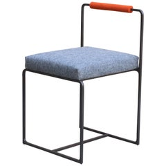 Coda Dining Chair in Blackened Steel and Merino Wool Upholstery by Laylo Studio
