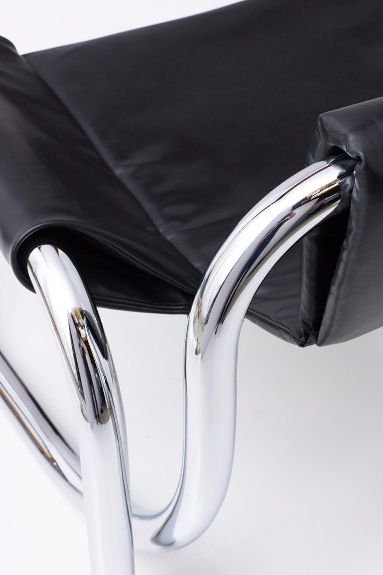 Coda Polished Chrome Frame With Cushioned Leather Sling