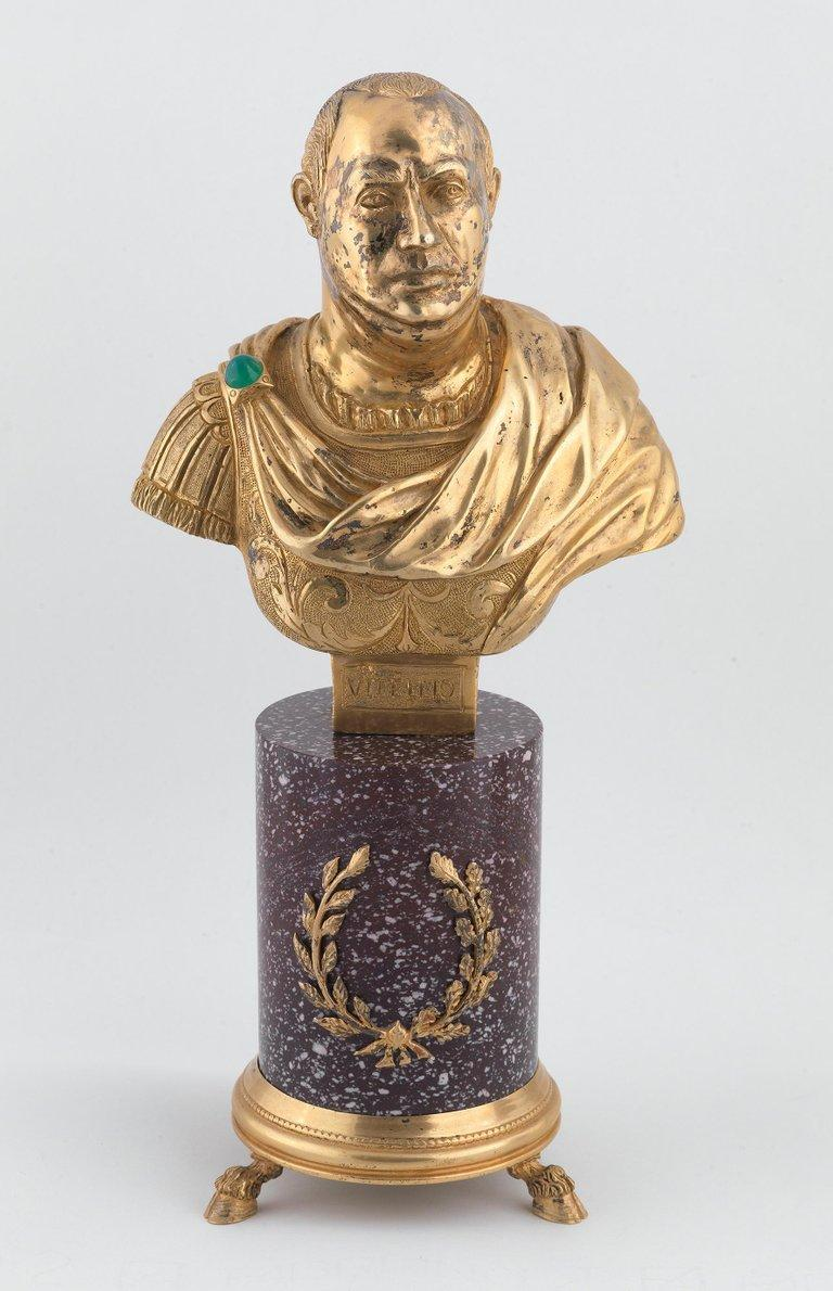 Cast Codognato Large Four Italian Silver-Gilt and Hardstone Busts of Roman Emperors For Sale