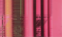 """Multiplying Difference: Abstract Painting 99185"" / digitalization, pink"