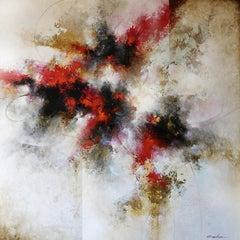 "Cody Hooper. ""Desert Dancer"". Original Abstract painting on wood panel."