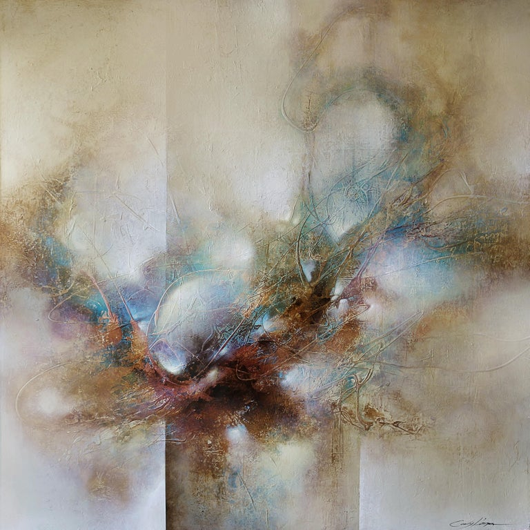 """Cody Hooper. """"Dreams Connected"""". Acrylic on wood panel. Original Abstract.  - Painting by Cody Hooper"""