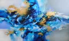 "Cody Hooper. ""I'll Hold my Breath"" Original Abstract Painting, on wood panel"