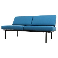 Coen de Vries for Pilastro Convertible Loveseat with Blue Cushions