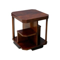 Coffee Table Art Deco Attributed to Gio Ponti in Walnut, 1930s