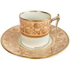 Coffee Can, Flight Barr & Barr, Peach Gilt Strawberries, Regency, circa 1815